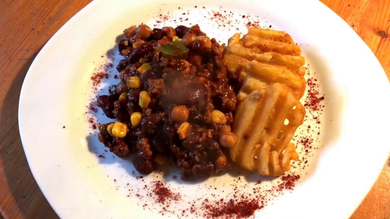 Chillie Con Carne mit Bohnen Tex-Mex Küche Chilli Rezept