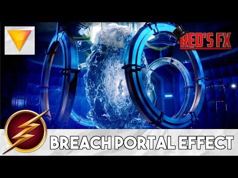 The Flash Breach Portal Effect Hitfilm Express Tutorial | Red's Fx