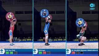 Snatch lifts comparison - IWF WC Pattaya - Men - 55kg