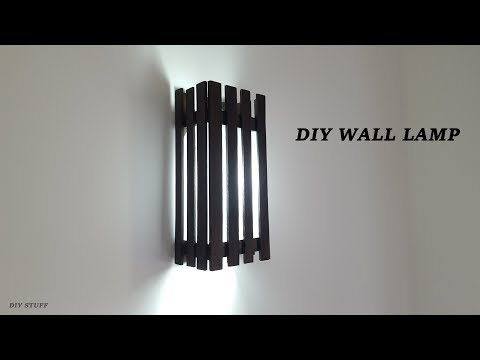 DIY Wooden Wall Lamps /Home Inside Wall Lamps