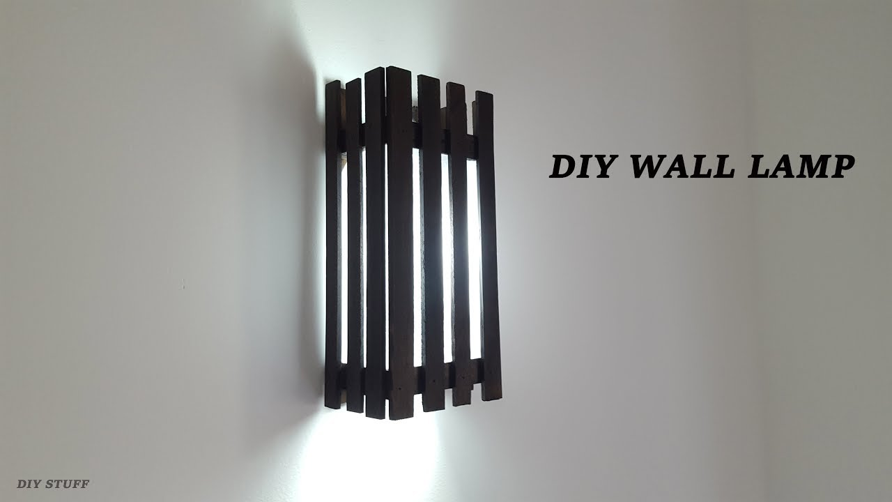 Diy Wooden Wall Lamps Home Inside