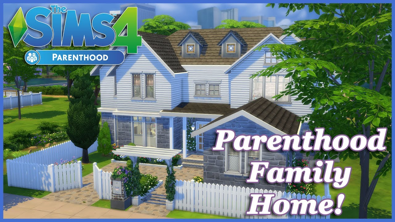 The Sims 4 Parenthood Family Home House Build Youtube