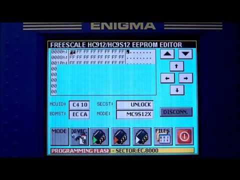 ENIGMATOOL - TUTORIAL - HOW TO PROGRAM MOTOROLA PROCESSOR FLASH WITH MOTOROLA SECURED EDITOR