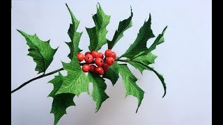 ABC TV | How To Make Christmas Holly Branch Paper - Craft Tutorial