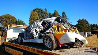 tomi hallia s massive crash sm rallisprint hausjrvi 2014