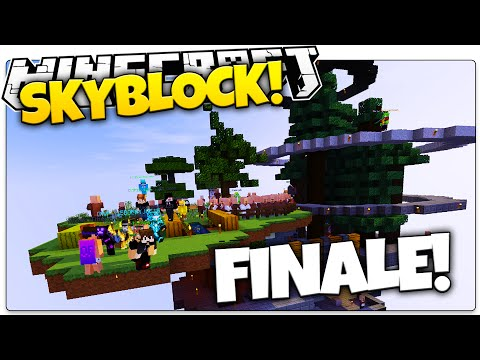 Minecraft Skyblock FINALE | Epic Island Build + PARTY! (Mine