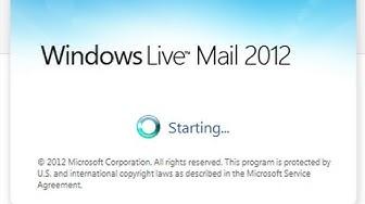 Windows Live Mail 2012 - Update Folder List, Repair