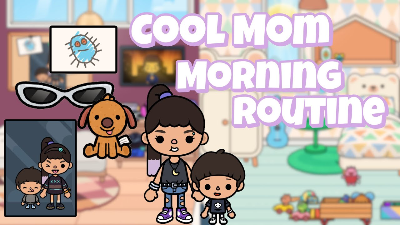 Cool Young Mom Morning Routine 🕶 | Toca life world