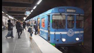 Sweden, Stockholm, Fridhemsplan, subway ride to Stadshagen, 2X elevator, 3X escalator