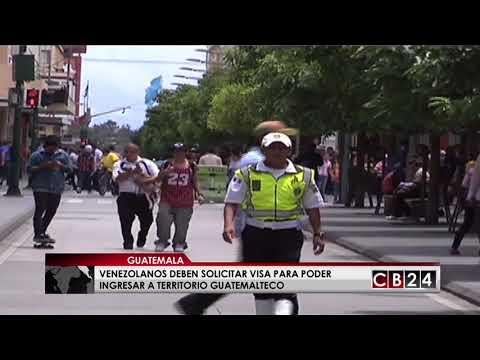 Venezolanos deberán presentar visa para ingresar a Guatemala