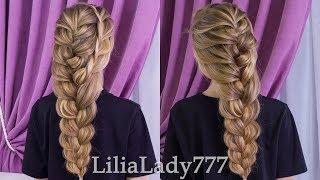 Красивая Прическа Объемная Коса. Easy hairstyles