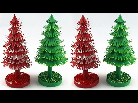 Very Easy Christmas tree making-xmas tree making at home -Christmas tree with paper-Christmas tree