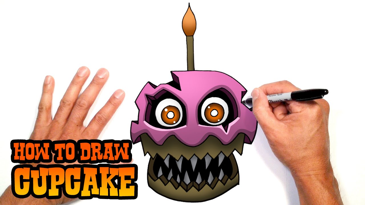 How To Draw Five Nights At Freddy S  Cup Cake