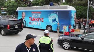 Arrival of president Erdoğan in Balikesir - May 2018