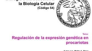 Operon Lactosa y triptofano 2013
