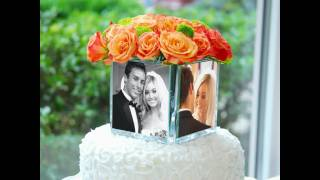 Our Feature Presentation: Square Glass Photo Vase & Cake Topper