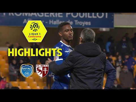 ESTAC Troyes - FC Metz (1-0) - Highlights - (ESTAC - FCM) / 2017-18