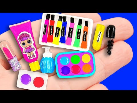 20 Barbie Hacks and Crafts ~ miniature LIQUID PHONE and more