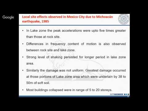 Local Site Effects & Their Implication on Earthquake Early Warning System By Dr Bhavesh Pandey