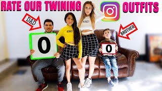 They Rate Our TWINNING INSTAGRAM Outfits!! *GONE WRONG* | Familia Diamond