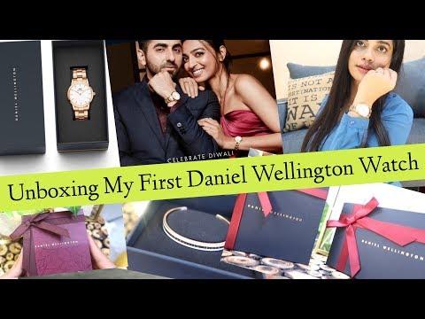 Unboxing My FIRST DANIEL WELLINGTON Watch | Perfect Diwali Gift | Sana K