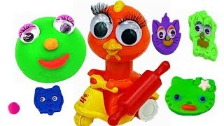 Learn Colors With Smart Duck and Balls out of Play Doh | Learn Numbers | Kids Songs | Nursery Rhymes