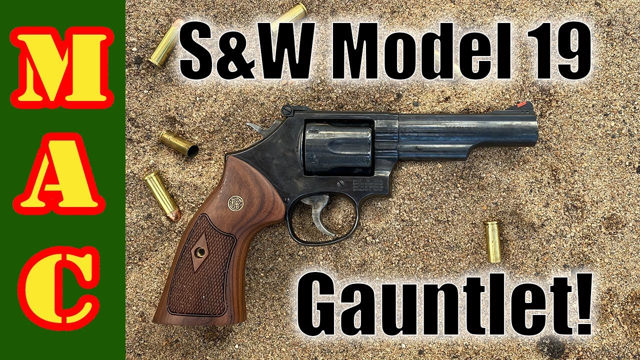 BOOM! S&W Model 19 revolver meets the GAUNTLET! Will the revolver beat the autos?