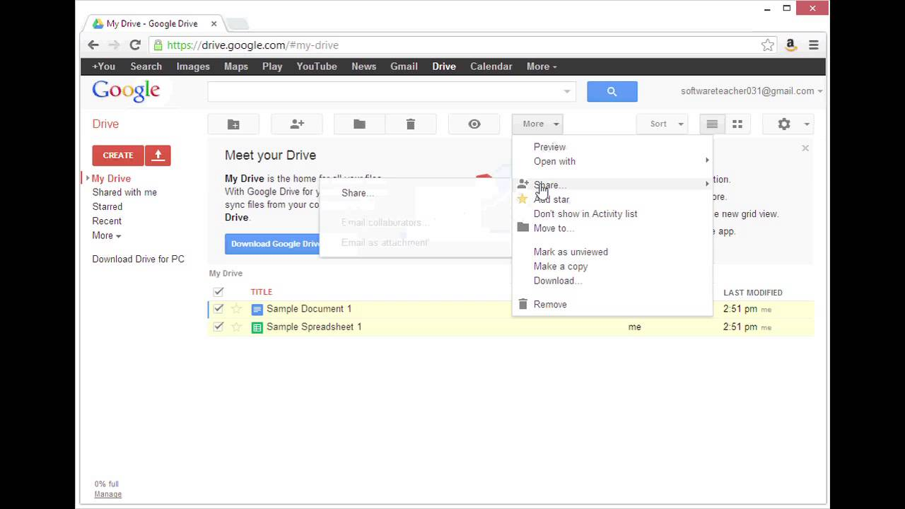 How to Move Google Docs From One Account to Another Using Apps : Google User Tips