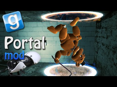 Garrys Mod PORTAL IN GMOD! (Gmod Sandbox Funny Moments)