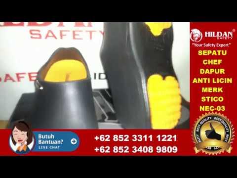 HP.0852 3311 1221,REVIEW Safety Shoes Koki - CHEF Kitchen Merk STICO Type NEC-03 Hitam