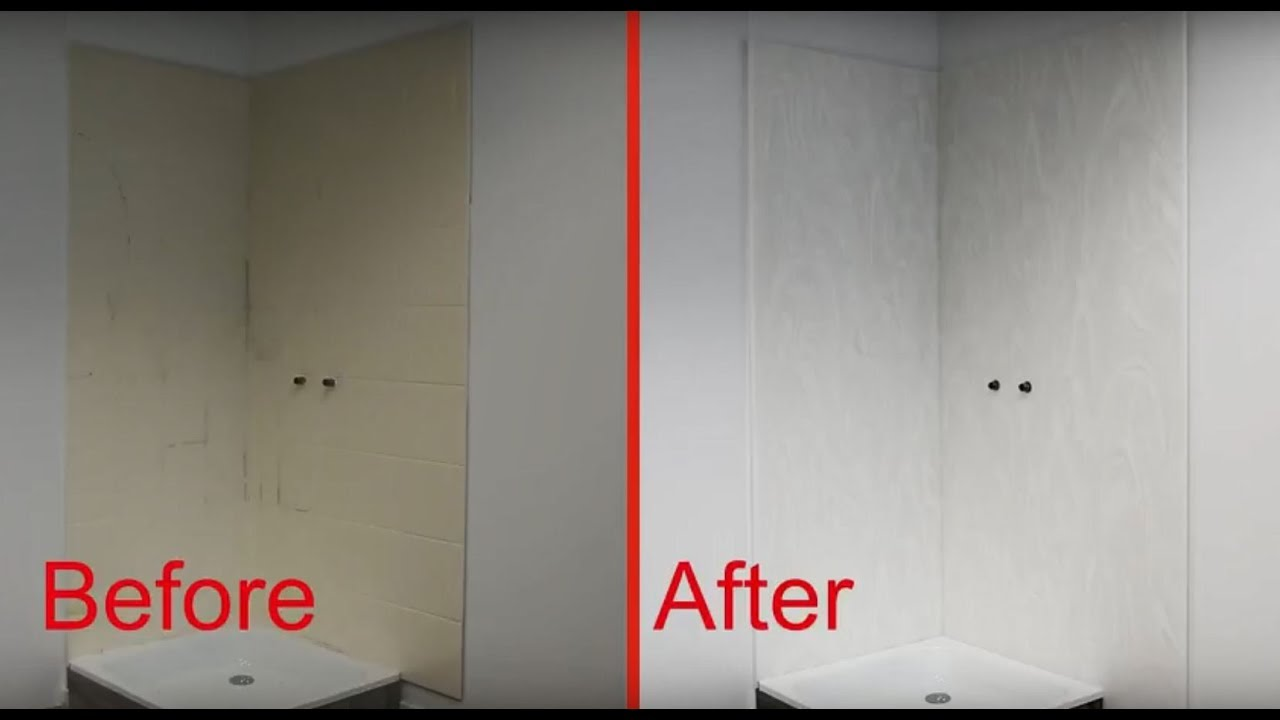 Easy Installation Of Corian 174 Shower Wall System Youtube