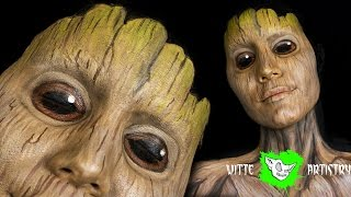 ✅GUARDIANS OF THE GALAXY Volume 2: Baby Groot Face-Paint Tutorial (GOTG Vol 2) Kat Sketch Collab!
