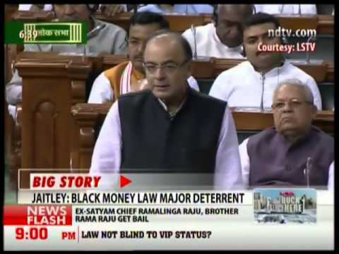Arun Jaitley Replies to black money bill debate