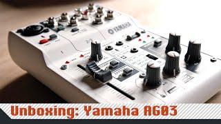 unboxing yamaha ag03 deutsch