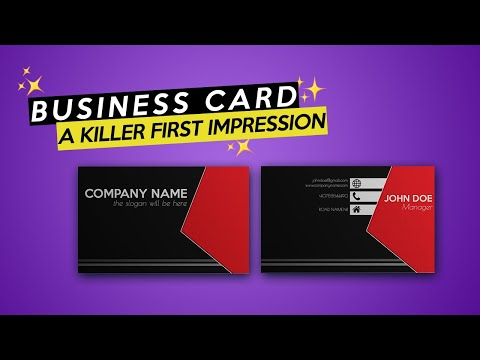 How To Make A Business Card In Photoshop Tutorial 2019 (+ Free TEMPLATE)