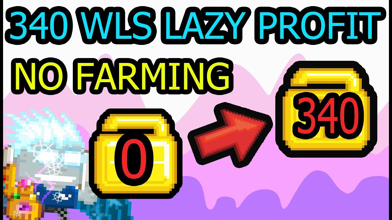 3 DLS LAZY PROFIT NO FARMING | Growtopia
