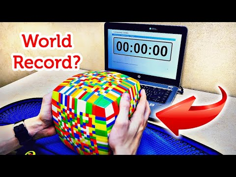 SOLVED THE BIGGEST RUBIK'S CUBE IN THE WORLD 17x17 | HOW TO SOLVE THE CUBE FOR 5 HOURS