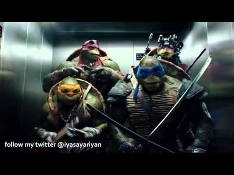 Ninja kaplumbağalar asansör sahnesi