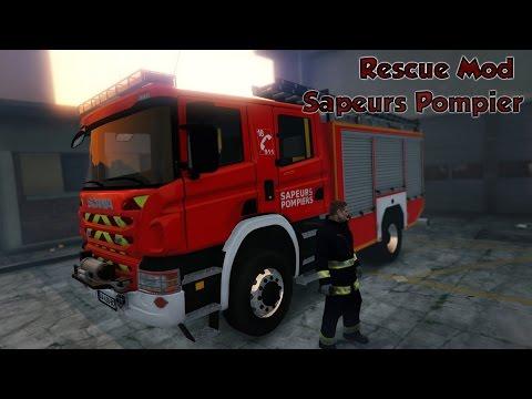 GTA V | Sapeurs Pompier de Paris | Rescue Mod V