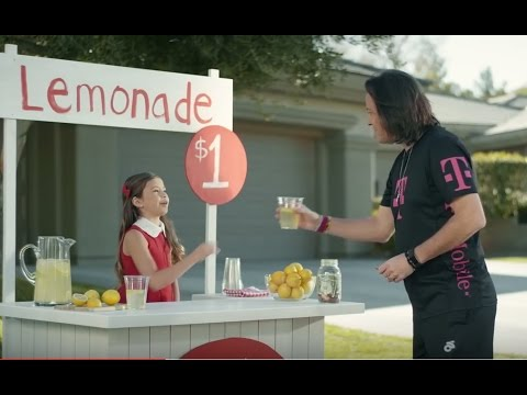T mobile one commercial 2017 lemonade stand youtube for Stand commercial