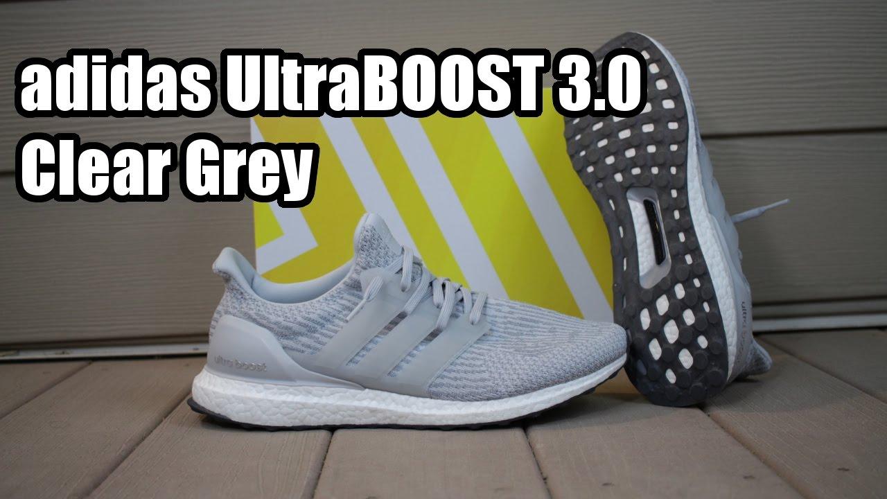 68e87ef02eb Foot Ultraboost Grey On Clear 3 0 Youtube Adidas W 0wqdfFH
