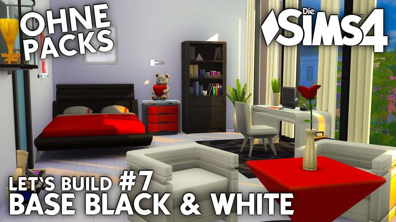 Die Sims 4 Haus bauen ohne Packs | Base Black & White #7: Teen Girl ...