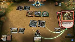 Mana flood against Green\Red dino deck