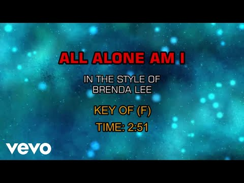 Brenda Lee - All Alone Am I (Karaoke)
