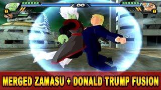 Donald Trump and Merged Zamasu Fusion   Trumpasu   DBZ Tenkaichi 3 (MOD)
