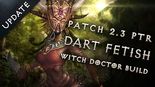 Best 2.3 Witch Doctor Dart Build Update - Diablo 3 Reaper of Souls Guide