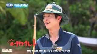 Kim Seol hyun huge fan Seo Kang joon # Law Of The Jungle in TONGA Ep.210