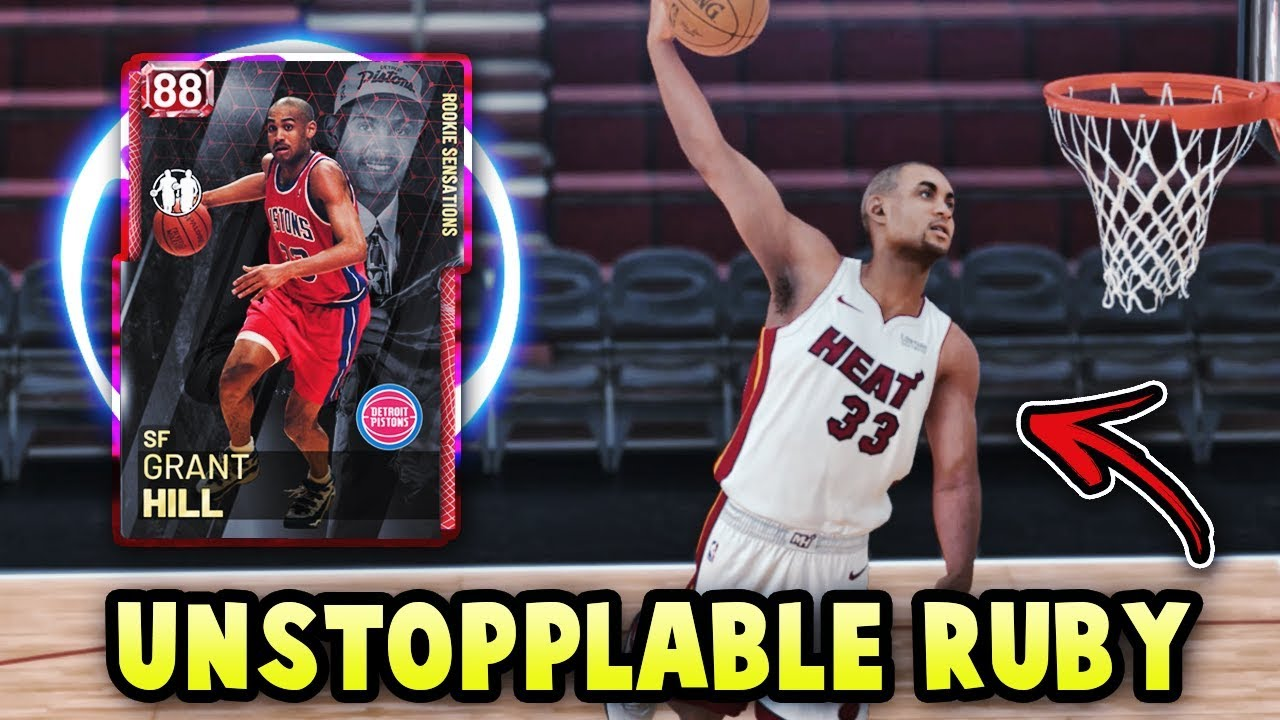 Nba 2k19 88 Overall Grant Hill Is Unstoppable Best Ruby Card Nba 2k19 Myteam Gameplay
