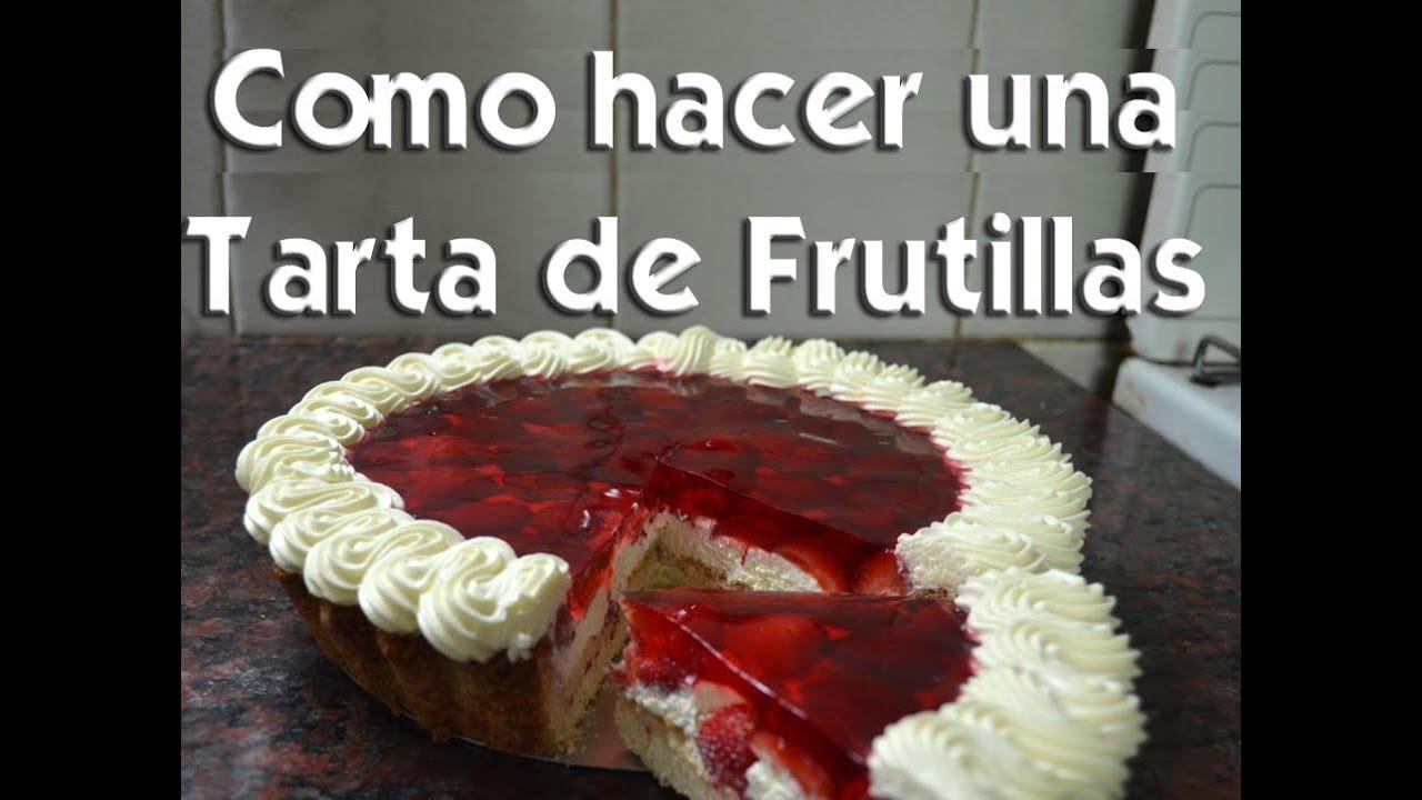 receta tarta de frutilla