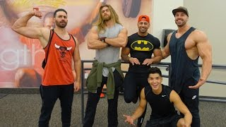 VLOG | CHEST & ARMS  | Yousef /FouseyTube,  Mike / BroScienceLife, Brock O'Hurn, & Alex Wassabi